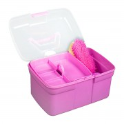 Детский ящик со щетками (Темно-розовый)