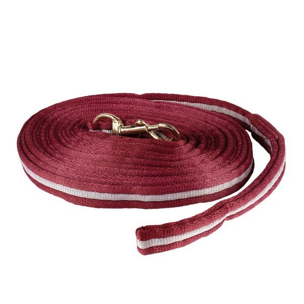 Корда мягкая Horze Orbit (Темно-красный/Светло-серый)
