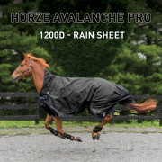 Попона дождевая Avalanche Pro Horze Supreme (Черный)