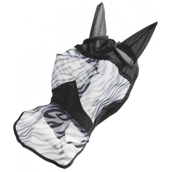 Маска от мух с защитой носа ZEBRA