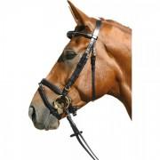 Оголовье мундштучное Equitare золотой шнур