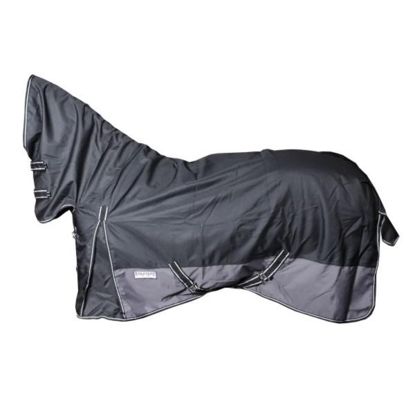 черный/серый Попона дождевая на флисе с капором 1200 D