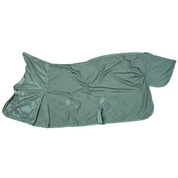 Цвет: темно-зеленый. Попона прогулочная универсальная на флисовом подкладе с высокой шеей