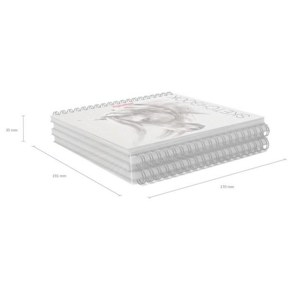 Альбом для эскизов на спирали ErichKrause Wild Horse 40 листов