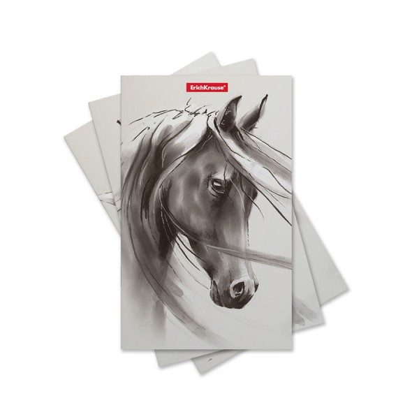 Записная книга на скобе ErichKrause Wild Horse 32 листа в точку