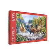 Пазл 1000 элементов Табун лошадей в горах
