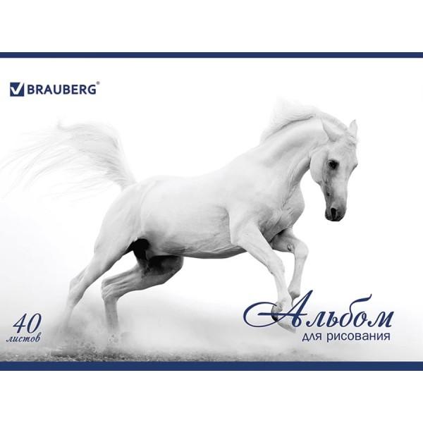 Альбом для рисования А4 Благородные кони 40 листов