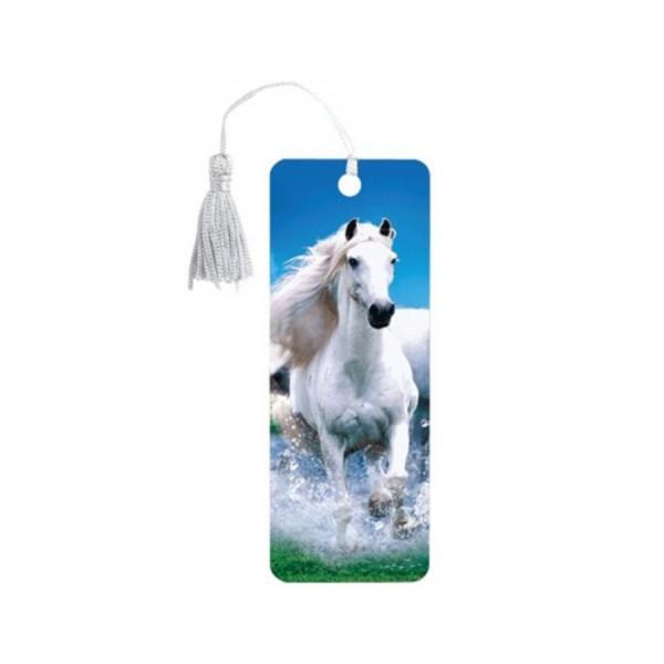 Закладка для книг 3D Белый конь