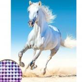 Алмазная вышивка с частичным заполнением Белый конь