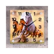 Часы настенные серия Животный мир Кони
