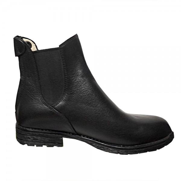 Ботинки кожаные на резинке с молнией сзади