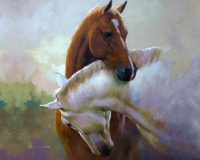 Картины с лошадьми. Художник Spartaco Lombardo