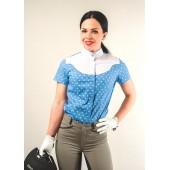 Рубашка турнирная голубая женская короткий рукав Avanti