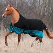 Попона дождевая с высокой шеей на флисовой подкладке MIU Equestrian Denver 600 den Rip Stop