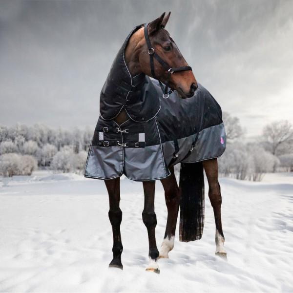 Попона зимняя HORSE ONE Base Winter, 600 DEN, 300 гр/м, съемный капор