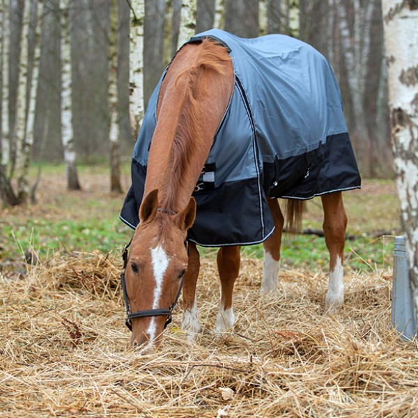 Попона дождевая HORSE ONE BASE RAIN без капора подкладка флис 600 den rip-stop 3000 PU