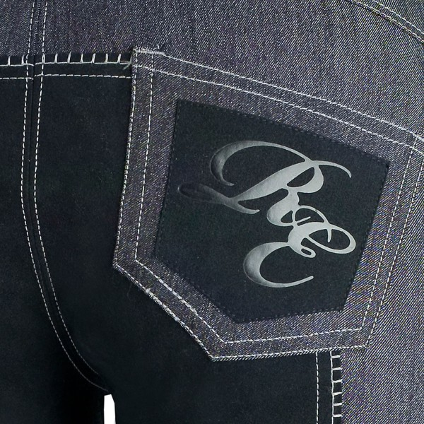 Бриджи джинсовые с полной леей