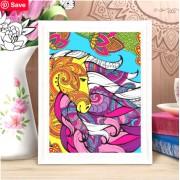 Роспись по номерам Лошадь для вдохновения с красками