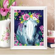 Роспись по номерам Лошадь с красками