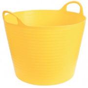 Ведро-кормушка желтое на 28л  Kerbl