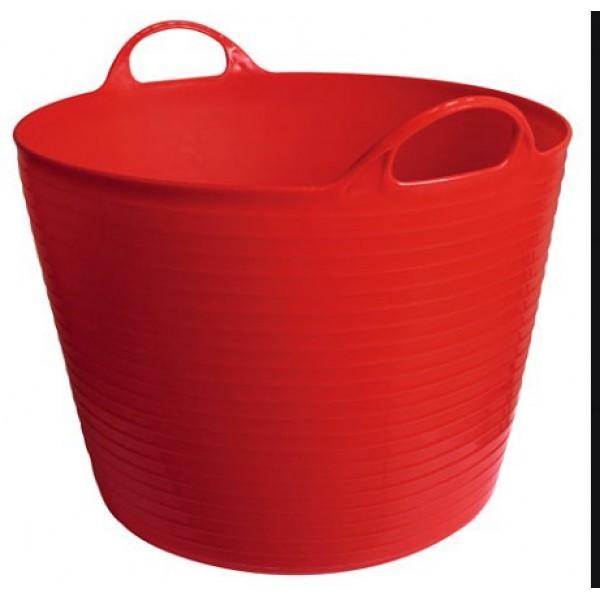 Ведро-кормушка красное 28л Kerbl